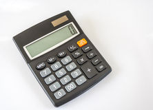 Electronic Calculator On White Background Royalty Free Stock Photos