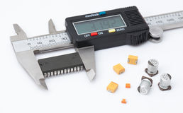Electronic caliper measure IC.  stock photography