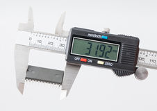 Electronic caliper measure IC.  royalty free stock photo