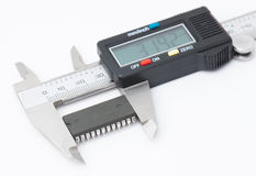 Electronic caliper measure IC Stock Photo