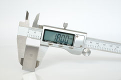 Electronic calipers Royalty Free Stock Photo
