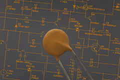 Electronic capacitor Stock Photography