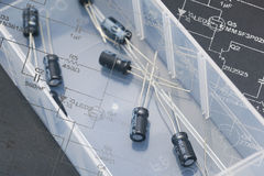 Electronic capacitors Royalty Free Stock Photography