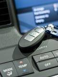 Electronic car key closeup photo Stock Images