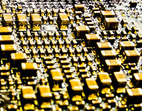 Gold Electronic Stock Photo