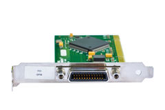 Electronic card (PCI card) Stock Image
