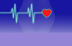 Electronic cardiogram Stock Images