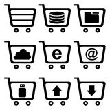Electronic carts Royalty Free Stock Photo