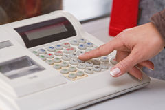 Electronic cash register Stock Photography