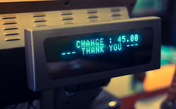 Electronic cash register ( Filtered image processed vintage effe Royalty Free Stock Photography