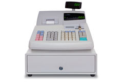 Cash Register isolated with clipping path Royalty Free Stock Photos