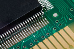 Electronic chip. In circuit Stock Photos