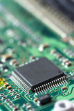 Electronic chip on circuit board Stock Images