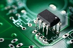 Printed circuit board and chip Stock Image