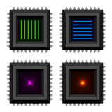 Electronic chip glowing core  EPS10 Royalty Free Stock Photos