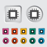 Electronic chip icon 2 Royalty Free Stock Photography