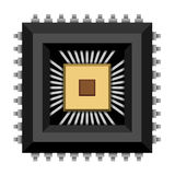 Electronic chip microchip Stock Image