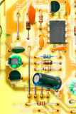 Electronic chip and other components Stock Photo