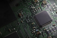 Electronic. Chip technology board computer Stock Image