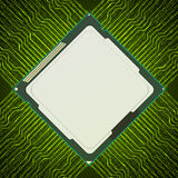 Electronic chip. Vector background. Royalty Free Stock Image