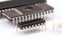 Electronic chips Royalty Free Stock Images