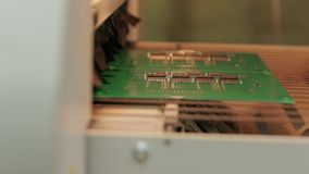 Electronic Chips Drying stock video