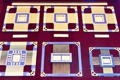 Electronic chips processor. Radiation protected electronic chip processor stock images