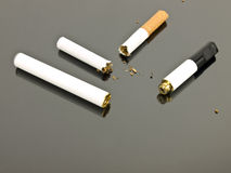 Electronic cigarette and analog cigarette Stock Images