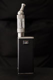 Electronic cigarette on black background Royalty Free Stock Photography