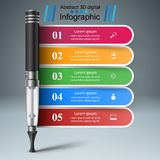 Electronic cigarette - business infographic. Vector eps 10 royalty free illustration