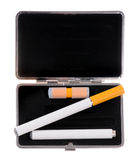 Electronic cigarette in a case Royalty Free Stock Images