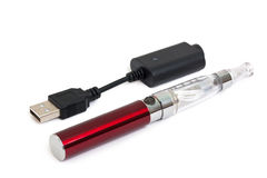 Electronic cigarette with charging cable Stock Photography