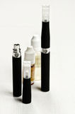 Electronic cigarette, e-cigarette. Electronic cigarette, detail and components. E-cigarette business Royalty Free Stock Image