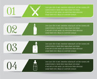 Electronic Cigarette Infographic. Electronic cigarette and vaping themed infographic Stock Photos