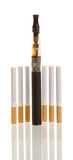 Electronic cigarette isolated on  white background Stock Photo