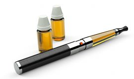 Electronic cigarette leather and metal stock illustration