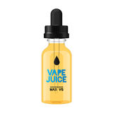 Electronic cigarette liquid flavour. Bottle Stock Images