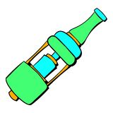 Electronic cigarette mouthpiece icon cartoon. Electronic cigarette mouthpiece icon in cartoon style isolated vector illustration Royalty Free Stock Photo