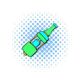 Electronic cigarette mouthpiece icon, comics style. Electronic cigarette mouthpiece icon in comics style  on white background Stock Photography