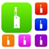 Electronic cigarette with mouthpiece set collection. Electronic cigarette with mouthpiece set icon in different colors isolated vector illustration. Premium Royalty Free Stock Photography