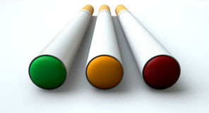 Electronic Cigarette Traffic Light Concept Royalty Free Stock Photos