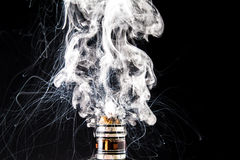 Electronic Cigarette vape cloud Stock Image