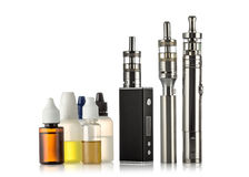 Electronic cigarettes collection isolated on white Stock Images
