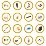 Electronic cigarettes icon circle. Electronic cigarettes cartoon icon circle cartoon isolated vector illustration Royalty Free Stock Image