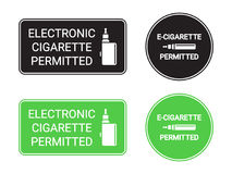 Electronic cigarettes permitted signs Royalty Free Stock Photos