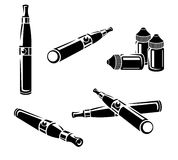 Electronic cigarettes set. Vector Royalty Free Stock Images
