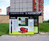 Electronic cigarettes shop Royalty Free Stock Image