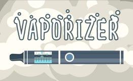 Electronic cigarettes vaporizers. Electronic cigarettes vape vapor vaporizers smoking illustration Stock Photos