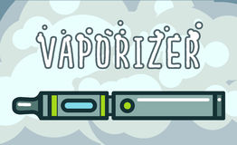 Electronic cigarettes vaporizers. Electronic cigarettes vape vapor vaporizers Vector illustration Royalty Free Stock Photography