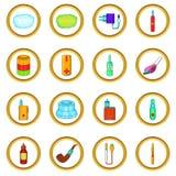 Electronic cigarettes vector set, cartoon style. Electronic cigarettes vector set in cartoon style isolated on white background Royalty Free Stock Image